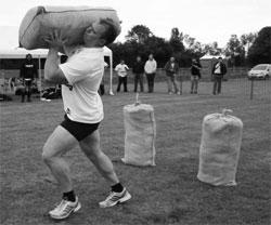 Loading sandbags